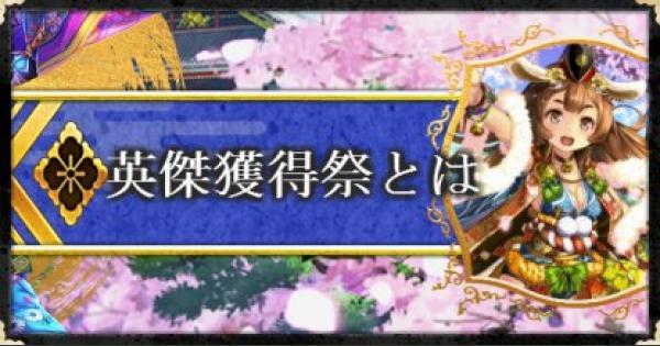 【戦国炎舞】英傑獲得祭の概要と報酬【戦国炎舞-KIZNA-】