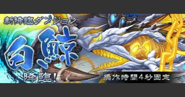 【パズドラ】白鯨降臨(超地獄級)ノーコン攻略と周回パーティ