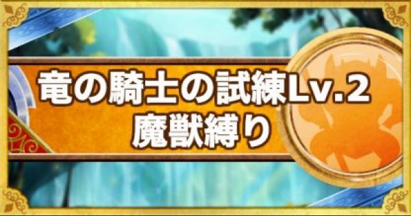 「竜の騎士の試練 レベル2」攻略!魔獣縛りのクリア方法!