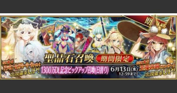 【FGO】1300万DL記念ピックアップガチャシミュレーター