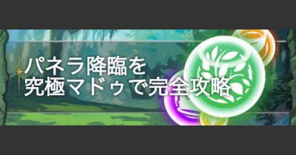 【パズドラ】パネラ降臨を究極マドゥで完全ソロ攻略!