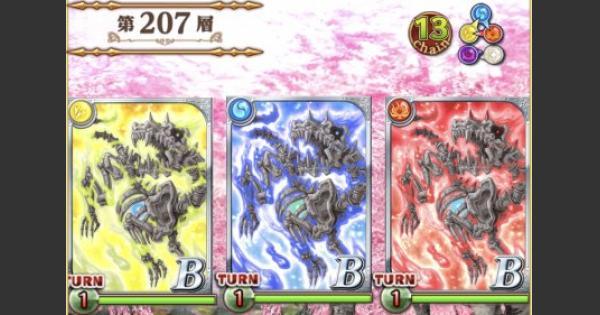 【黒猫のウィズ】黒ウィズダンジョン2第207層攻略&デッキ構成