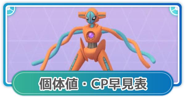 【ポケモンGO】デオキシス(スピード)の個体値早見表とCP一覧