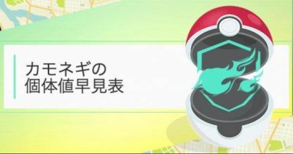 【ポケモンGO】カモネギのCP・個体値早見表