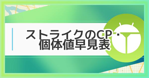 【ポケモンGO】ストライクのCP・個体値早見表