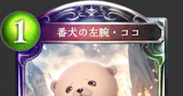 【シャドバ】番犬の左腕・ココの情報【シャドウバース】