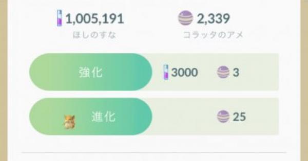 【ポケモンGO】進化に必要なアメ一覧