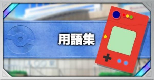 【ポケモンカード】用語集【ポケカ】