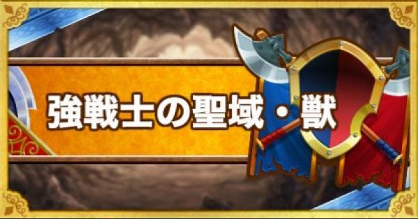 【DQMSL】「強戦士の聖域・獣」攻略!破戒王ベルムド強の倒し方!