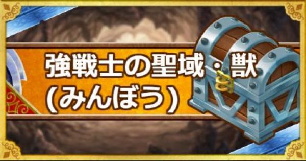 【DQMSL】強戦士の聖域・獣(みんぼう)破戒王ベルムド攻略!
