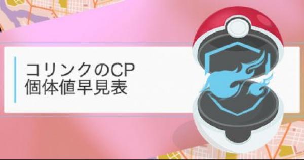 【ポケモンGO】コリンクのCP・個体値早見表