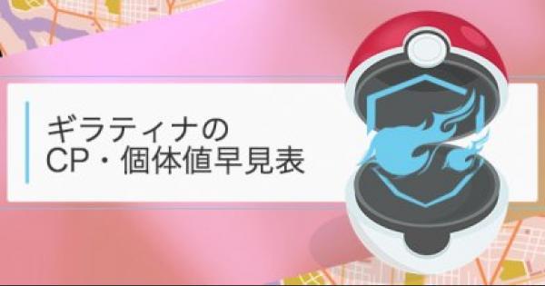 【ポケモンGO】ギラティナの個体値・CP早見表