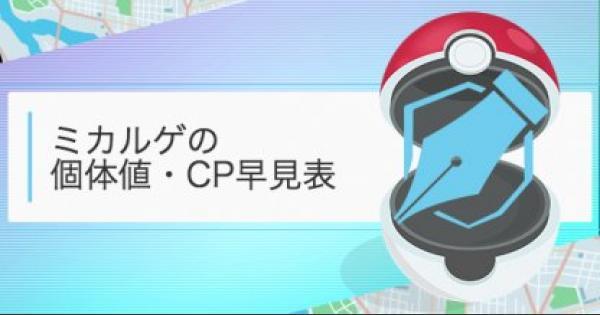 【ポケモンGO】ミカルゲの個体値・CP早見表