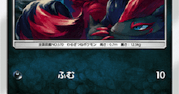 【ポケモンカード】ゾロア(SM8b)のカード情報【ポケカ】