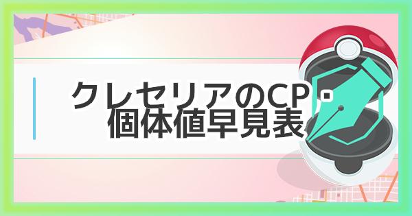 【ポケモンGO】クレセリアの個体値・CP早見表