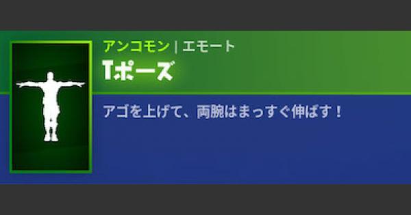 【フォートナイト】エモート「Tポーズ」の情報【FORTNITE】