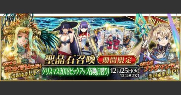【FGO】クリスマス2018ピックアップガチャシミュレーター