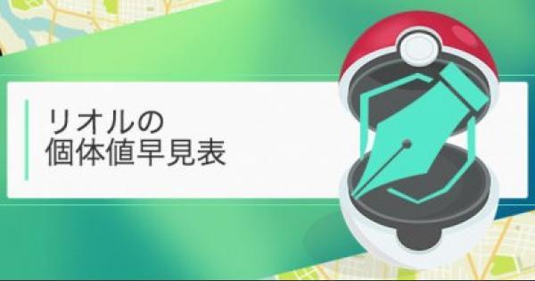 【ポケモンGO】リオルの個体値・CP早見表