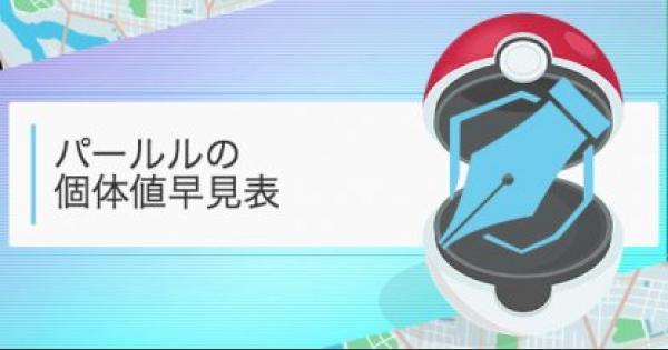【ポケモンGO】パールルの個体値・CP早見表