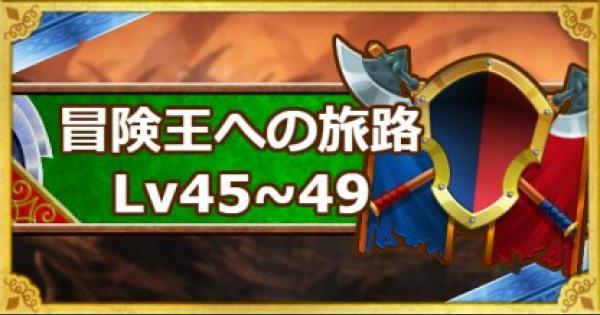 【DQMSL】「冒険王への旅路 レベル45・46・47・48・49」攻略!