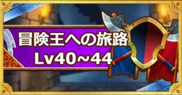 【DQMSL】「冒険王への旅路 レベル40・41・42・43・44」攻略!