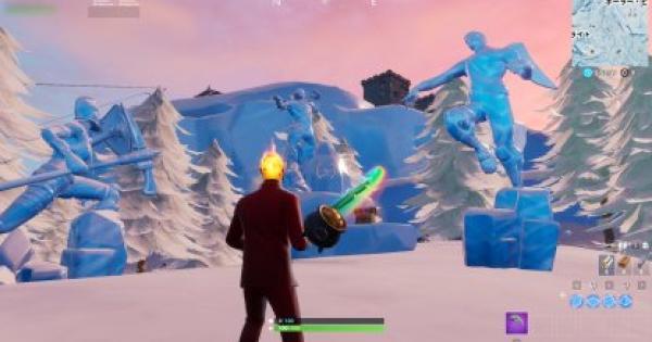 【フォートナイト】「3体の氷像の間で踊る」ウィーク9チャレンジ攻略【FORTNITE】