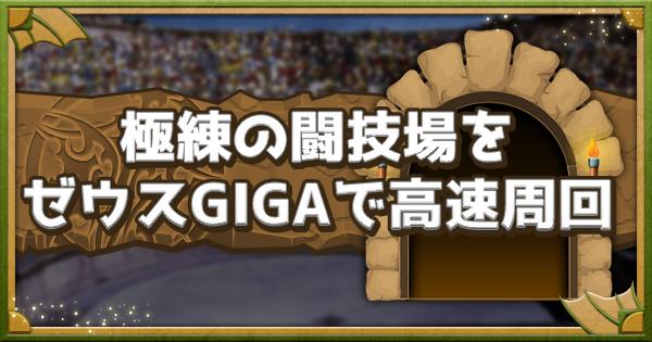 【パズドラ】極練の闘技場をゼウスGIGA×スーパーマンで高速周回