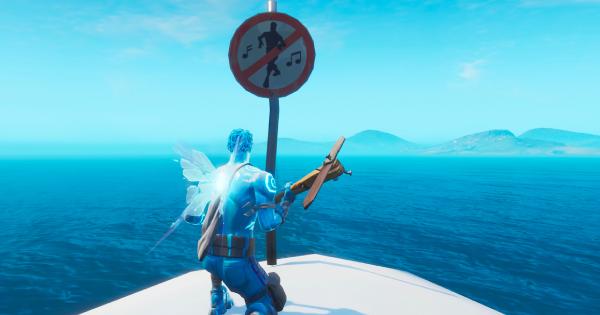 ダンス禁止の標識を破壊する