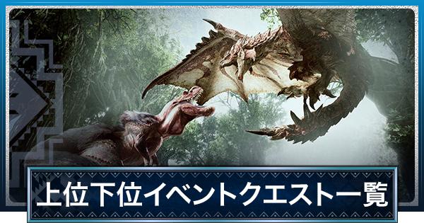 イベントクエスト一覧とスケジュール【PS4】