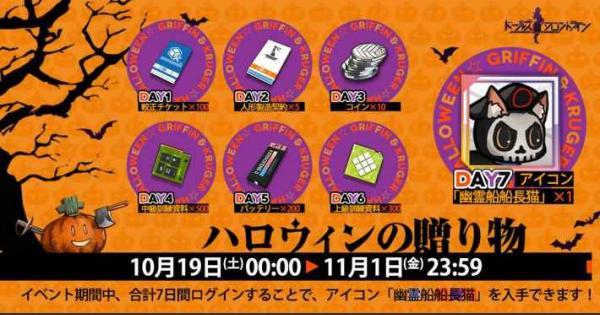 【ドルフロ】ログインイベント「ハロウィンの贈り物」の概要と報酬【ドールズフロントライン】