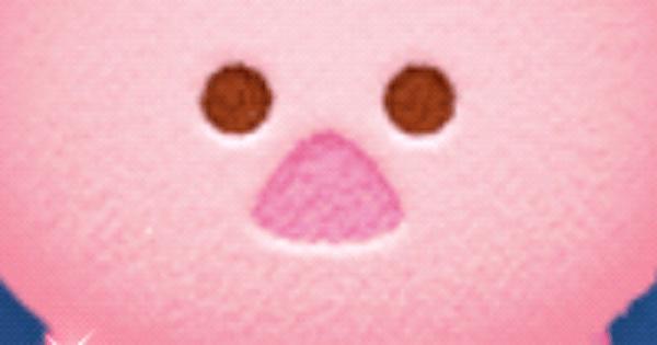 【ツムツム】鼻がピンクのツム一覧