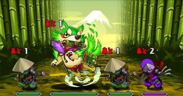 【パズドラ】木と闇の犬龍(超地獄級)ノーコン攻略と周回パーティ