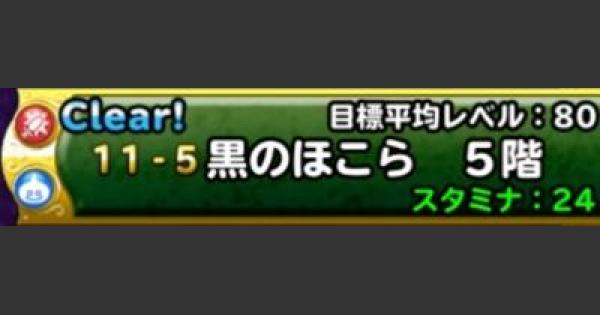 【DQMSL】黒のほこら 5階攻略!