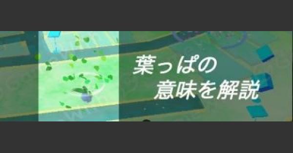 【ポケモンGO】葉っぱ/草が舞う場所の意味