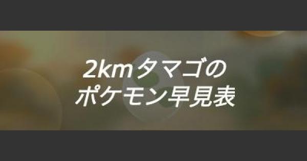 【ポケモンGO】2kmタマゴのポケモンの当たりランキング