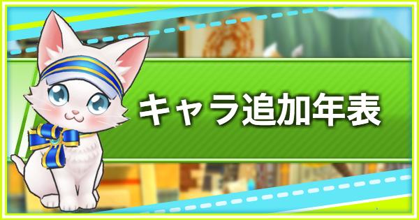 【白猫テニス】キャラ追加年表【白テニ】