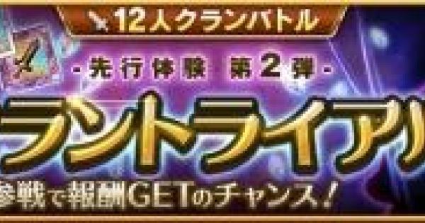 【ログレス】クラントライアル第2弾の攻略【剣と魔法のログレス いにしえの女神】