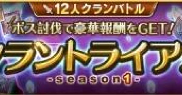 【ログレス】クラントライアル〜season1〜の攻略まとめ【剣と魔法のログレス いにしえの女神】