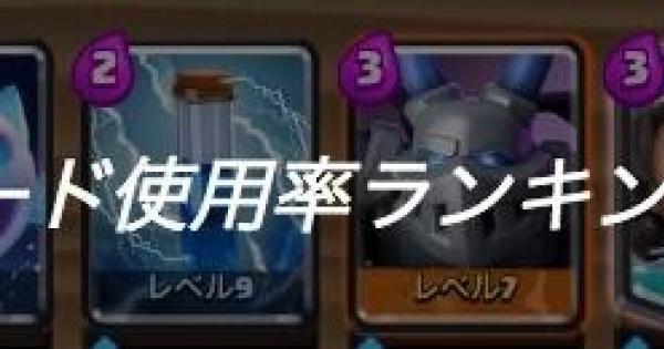 カード使用率ランキング!【2月28日付】