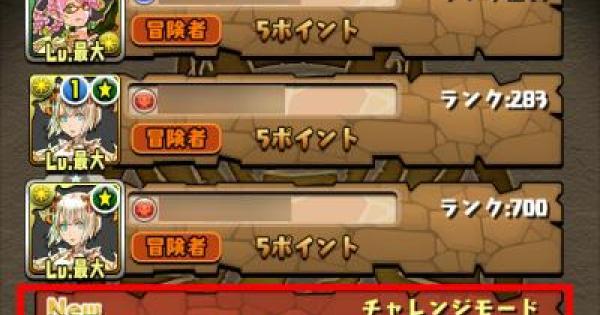 【パズドラ】チャレンジモード(チャレモ)のおすすめ攻略リーダー