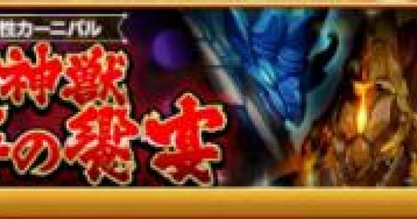 【ログレス】四神獣 怒涛の饗宴の攻略【剣と魔法のログレス いにしえの女神】