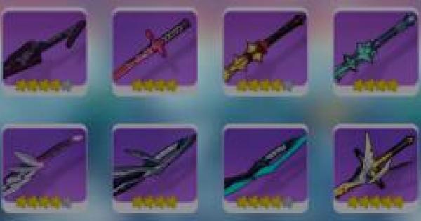 【崩壊3rd】新武器8本と新聖痕3種が図鑑に追加!性能をチェックしよう!