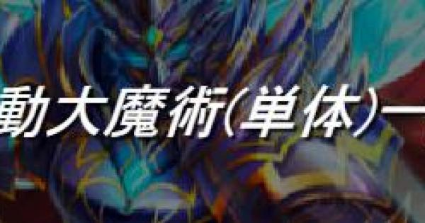 【黒猫のウィズ】反動大魔術(単体)の精霊評価一覧 | スペシャルスキル