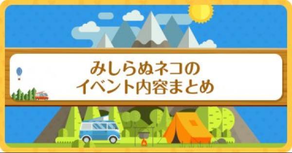 【ポケ森】みしらぬネコイベント攻略と限定家具一覧【どうぶつの森(どう森)】