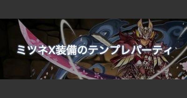 【パズドラ】ミツネ装備ハンターの最新テンプレパーティ