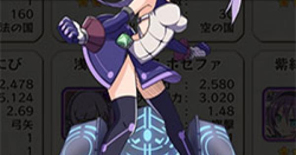 【メルスト】「浅紫の格闘家」ホセファの評価とステータス【メルクストーリア】