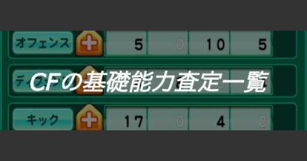 【パワサカ】CF(センターフォワード)の基礎能力査定一覧【パワフルサッカー】