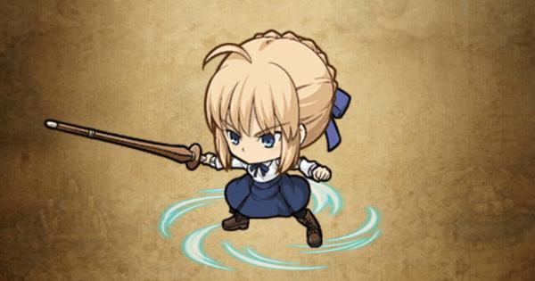 【ポコダン】セイバー【Fate】の評価と強い点【ポコロンダンジョンズ】