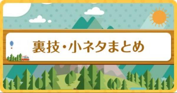【ポケ森】裏技/小ネタまとめ【どうぶつの森(どう森)】