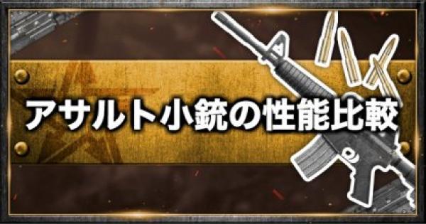 【荒野行動】アサルトライフル(小銃)の一覧と性能比較!